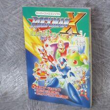 ROCKMAN X Megaman Strategy Guide Booklet Book SFC Ltd