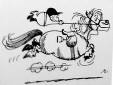 Thelwell Greeting Card - At a Gallop - Brand new