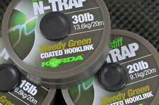 Korda NEW N-Trap Semi-Stiff Coated Fishing Braid Hooklink *All Breaking Strains*