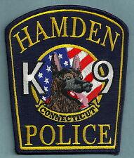 HAMDEN CONNECTICUT POLICE K-9 UNIT PATCH