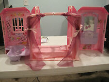 barbie magic key house with bed, bath, and vanity.  retired