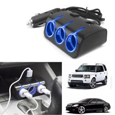 3 Way Car Cigarette Lighter Socket Splitter Dual USB Charger Power Adapter 12V