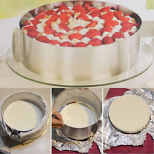 """6""""-12"""" Retractable Stainless Steel Cake Circular Mousse Ring Mold Mould Tool DIY"""