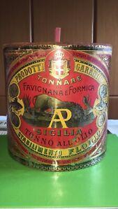 Antica Scatola Latta Tonno Florio Vintage 8,5 KG Tonnara Favignana Sicilia