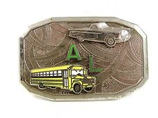 Vintage AL School Bus Car Belt Buckle By HOOK FAST REG US PAT. OFF. 32217