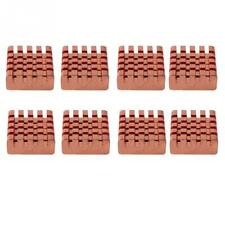 8x Copper Adhesive Back Heatsinks For Motherboard DDR VGA Ram IC Chipset Cooling