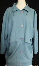 Vintage womens mid length lined blue plus size mac style coat,approx. size 18-20