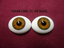 Glass Doll Eyes Pabol  Hazel Oval Flatback for reborns 24MM
