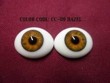 Pabol 24 MM pabol Glass Eyes Hazel Oval Flatback for reborns