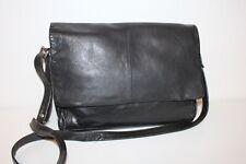 17df462dacd03 80er Vintage Leder Tasche Messenger Leather Bag Shopper Schultertasche  Satchel