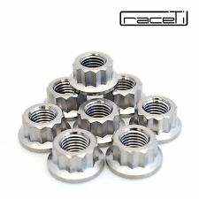 M10 x 1.25 Titanium Bi Hex Flange Nut 12 point Ti sprocket gr5 CNC Ducati 8 Pack