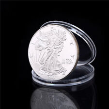 Silver Plated Liberty Eagle Commemorative Coin Collection Gift WF