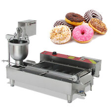 #304 Commercial Automatic Electric Donut Making Machine Donut Fryer 3 Outlet UPS