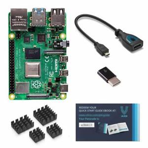 Vilros Raspberry Pi 4 with USB-C & Micro HDMI Adapters