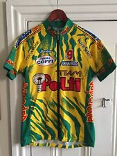 Polti Team Cycling Jersey Santini Full Zip Sz Medium ~ Excellent