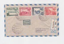 iceland 1949 Sc 253/6 UPU set on Reg.FDC      o2122