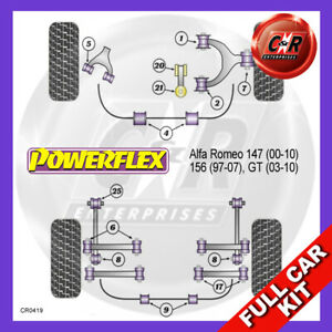 Alfa Romeo 156 (1997-2007) V6 Models Powerflex Complete Bush Kit
