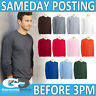 GILDAN LONG SLEEVE T-SHIRT 100% COTTON PLAIN MENS BLANK BULK PACK ULTRA TEE 2400