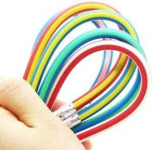 6 pieces Magic Bendy Flexible Pencil Soft w/ Eraser Colorful Fun Student School