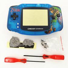 Zelda Link Sword Clear Blue Shell Case Housing for Nintendo Game Boy Advance