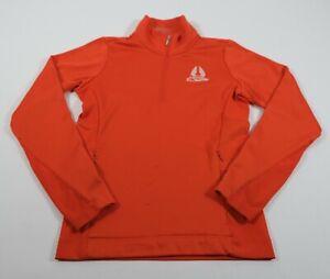 Nike Golf Tour Performance Women's Orange 1/4 Zip Eagles Dream Sweatshirt Sz XS