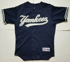 Vintage Men's Majestic MLB New York Yankees Jersey M / Navy White Embroidered