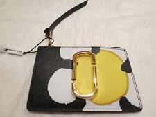 Marc Jacobs Snapshot Leather ID Card Key Wallet Daisy Yellow Multi $110 Auth NWT