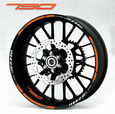 790 Duke quality motorcycle wheel decals stickers rim stripes for ktm super duke