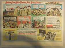 Gillette Razor Ad: Army Romance, Army Life Was Tough for Bill Until! from 1930's
