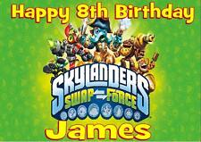 SKYLANDERS SWAPFORCE PERSONALISED A5 BIRTHDAY CARD with COLOURING PICTURE