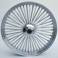 "Ultima Chrome 48 King Spoke 23"" x 3.5"" Front Wheel for Harley and Custom Models"