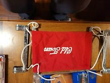 Old Town Canoe Extra Seat for Canoe RED Nylon With Hardware Hooks On USA