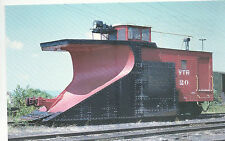 Vermont Railway Snow Plow #20 Wedge Shaped Photo 1973 Reprint Pc Rr 29