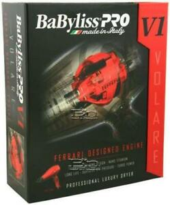 Babyliss pro BABFRV1 Full Size Dryer VOLARE V1 Ferrari Designed Engine - RED