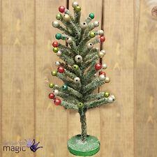 Gisela Graham Verde Cerda árbol de Navidad con Purpurina Bolas Decoración mesas