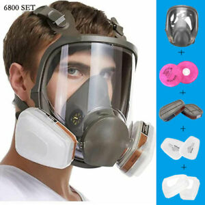 Breathable Full Face Shield Large Painting Spraying Respirator Chemical Work