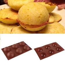 """New 2.5"""" Dia Half Ball Sphere Dessert Cake Muffin Pastry Jello Silicone Mold SY"""