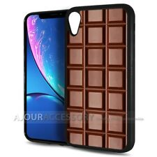 ( For iPhone XR ) Back Case Cover AJ10698 Chocolate