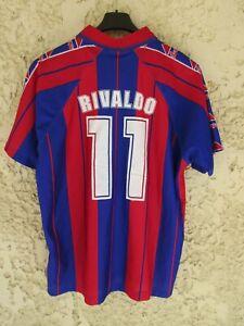 Maillot F.C BARCELONE BARCELONA vintage RIVALDO n°11 camiseta shirt Barça M