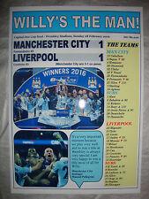 Manchester City 1 Liverpool 1 - 2016 Capital One Cup final - souvenir print