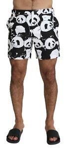 DOLCE & GABBANA Swimshorts Black White Panda Beachwear Boxer IT6 / L