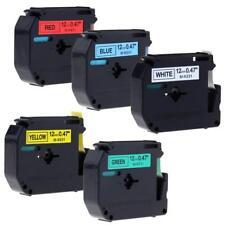 M-K231 M-K431 M-K531 M-K631 Compatible for Brother P-touch Label Tape 12mm 5pk