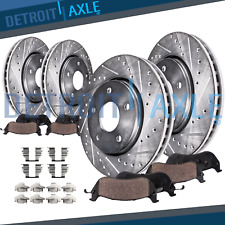 2010 - 2013 2014 2015 Chevy Camaro 3.6L F+R DRILL Brake Rotors + Ceramic Pads
