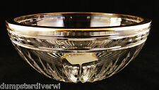 """Waterford Marquis Crystal Hanover Gold 5.5"""" bowl glass signed new with stickers"""