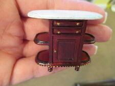 1:24 HALF Scale Bespaq Mahogany Bistro Bar Faux Marble Top Dollhouse Miniatures