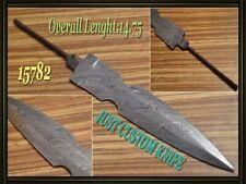 "14.25""Custom made Rare Damascus hunting blank blade knife making suppliers 15782"