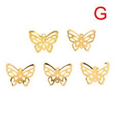50Pcs/Set Gold Metal Filigree Hollow Butterfly Charms Craft DIY Jewelry Maki JC