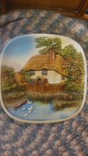Vintage A Legend Product England Chalkware 3D English Home Ceramic Plate