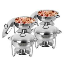 4 Pack Buffet Catering Stainless Steel Chafer Round Chafing Dish 5Qt Cost-Effect
