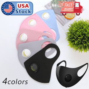 Face Mask Reusable Washable Adult Soft Cloth Breathable With Breathing Valve